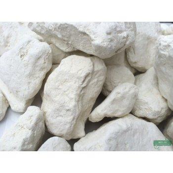 Глина Белая кусковая, пакет 1 кг